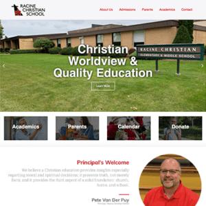 racinechristianschool.com